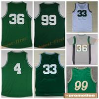 Wholesale Shirt Basket - 2016 Basketball Shirts Uniforms Green White #36 #99 #4 Christmas Sports Jerseys Basket ball 1992 Dream Team With Player Name Team Logo