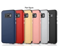 Wholesale Matte Hybrid Rubber Case - 2 In 1 Hybrid Rubber TPU + Matte PC Hard Back Phone Case Cover for iPhone Samsung Galaxy Series S8 S8 Plus