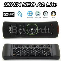 Wholesale Minix Neo Android Tv Box - MINIX NEO A2 Lite 2.4GHz Wireless Keyboard Gaming Fly Air Mouse Six-axis Gyroscope Smart Remote Control for Android TV Box PC