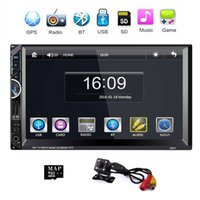 Wholesale Auto Navigation Radios - 8001 car audio 2 Din HD 7 inch Touch Screen Car Monitor Stereo auto Radio Bluetooth MP5 GPS Navigation Support Rear View Camera
