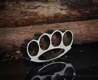 2017The New 2PCS Knuckle duster fivela de cinto F-S THICK CHROMED KIRSITE BRASS KNUCKLES DUSTERS Boxing Protective Gear DHL FEDEX Fast shipping