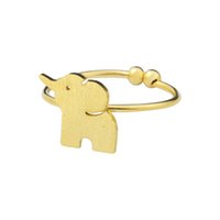 Wholesale Elephant Ring Gold White - Wholesale 10Pcs lot Free Shipping 2017 Hot Sale Trendy Midi Rings Animal Jewelry Adjustable Elephant Gold Filled Rings