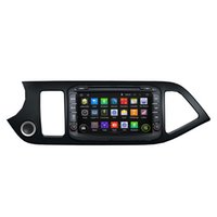 Wholesale Kia Picanto Stereo - Fit for kia Morning Picanto 2014 Android 5.1.1 system 1024*600 hd screen car dvd player gps navigation radio 3G wifi bluetooth dvr obd2