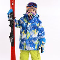 Wholesale Skiing Jacket Boys - Wholesale- Marsnow Brand Winter Boys and Girls Children Ski Jackets Outdoor Snowboarding Waterproof Hiking Clothing Windproof Coat Jackets