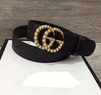 Wholesale Ladies Waistband Belts - 2017 hot High quality ladies belt drill buckle luxury brand belt designer belt leather waistband for gift