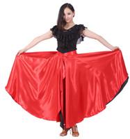 danse swing achat en gros de-Jupe Flamenco 360 Degré De Danse Espagnole Jupe Cercle De Danse Du Ventre Big Latin Jupe Swing Ouverture Costume De Danse Livraison Gratuite