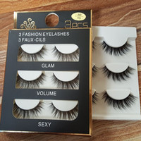 Wholesale Transparent Terrier False Eyelashes - 3D mink hair false eyelashes 8 Styles Handmade Beauty Thick Long Soft Mink lashes Fake Eye Lashes Eyelash Sexy High Quality DHL freeshipping