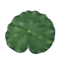 Wholesale floating artificial plants for sale - Group buy Free by DHL CM Artificial Floating Foam Lotus Leaves Artificial Foliage Pond Decoration