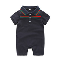 Wholesale New Boys Outfits - New Summer Kids Clothing Sets INS Boys Clothing Girls Outfits Short Sleeve White Cloud Romper Baby Suits Newborn Pajamas