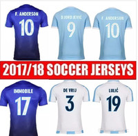 Wholesale Quality Men S Silk Shirts - Thai quality 2017 2018 Lazio Soccer Jersey 17 18 LULIC IMMOBILE SERGEJ home away Football jerseys Shirt