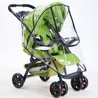 Wholesale Trolley Lie - Wholesale- 2017 New High Landscape Baby Carriage Zipper Rain Cover Baby Trolley Can Be Lying Rain Covers Baby Pram Umbrella Rain Case
