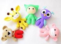 Wholesale Crochet Baby Giraffe - Wholesale- Amigurumi Baby and Animal Friends Crochet Toy Crochet Owl Giraffe Bear Monkey doll rattle