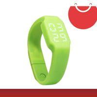 Wholesale Home Intelligence - Fashion multi-function watch U disk thermometer watch green LED watch intelligence