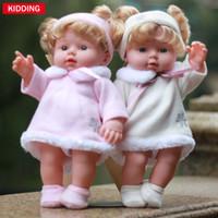 Wholesale Baby Chrismas - 30cm thick dress plastic girl baby dolls 12 inch vinyl fairy lifelike reborn kids doll for chrismas gift