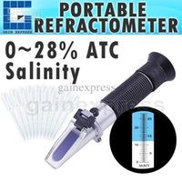 Wholesale Prepared Water - RHS-28ATC Handheld Salinity Refractometer 0-28% ATC , Salt Water in Brine Prepared Food Solution