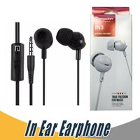 Wholesale earphone cup - Langsdom IN3 Earphone 3.5mm Stereo Bass Headphone with Mic Ear Cup For iPhone 7 Samsung Android with Retail Package