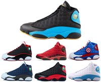 Wholesale Beautiful Grey - Beautiful shoes 13 black cat man basketball shoe Got Game Chicago sneaker low bred sport shoes CP3 PE OG 13S Home flints sports shoes