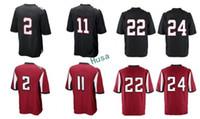 Wholesale Freeman Football - Men Game Stitched Style 11 Julio Jones 2 Matt Ryan 24 Devonta Freeman 22 Keanu Neal Black Red Mix Order jerseys