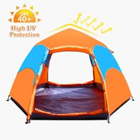 Wholesale Tents Rain - Camping Tent 3-5 People 2 Layers Auto Open Tent Portable 6 Angles Rain Proof Outdoor Camping Hiking Travel Tents