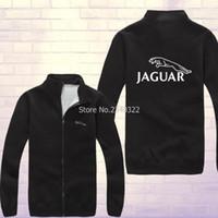 Wholesale Coupe Car - Wholesale- Winter autumn Jaguar coupe car race sweatshirt fans on the new zipper cardigan coat jackets