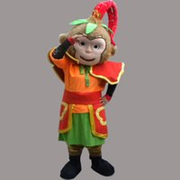 Wholesale monkey mascot costume adult - Chinese Monkey King Sun Wukong Adult Size Mascot Son Goku Costume Fancy Birthday Party Dress Halloween Carnivals Costumes With High Quality