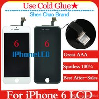 Wholesale Iphone Screen Without Lcd - Grade A+++(100% Spotless) shenchao LCD Assembly With Frame brand new For iPhone 6 100% Without Dead Pixel Satisfactory after sales services