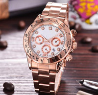 Wholesale Rose Gold Ladies Geneva Watch - Rose Gold Watch Women Luxury Brand Hot Geneva Ladies Wristwatches Gifts For Girl Full Stainless Steel Rhinestone Quartz Watch