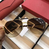 Wholesale French Men Fashion - T8220010 Fashion Men Brand Designer To French Luxury Sunglasses Pilots Metal Classic Frame Color Wrapping Legs UV Protection Sunglasses