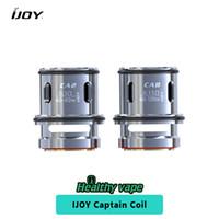 Wholesale Tanks Accessories - Original ijoy Captain Coil CA2 0.3ohm & CA8 0.15ohm Replacement Coil Head E cigs Accessories for Captain Sub Ohm Tank