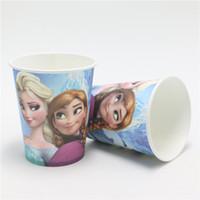 Wholesale Bridal Baby Shower Supplies   Wholesale 50pcs Lot Cartoon Anna  Elsa Paper Cups Party