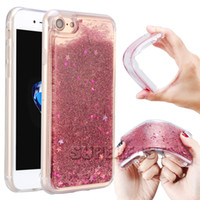 Wholesale Iphone V5 - For iPhone 7 Colorful Soft TPU Liquid Case 3D Bling Bling Water Gel For LG V5 Stylo2 Quicksand Back Cover Case with Retail Package