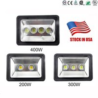 Wholesale Boat Led Fishing Lights - US stock led Floodlight 200W 300W 400W Outdoor LED Flood light lamp waterproof LED Tunnel Fishing boats light street lamps AC 85-265V