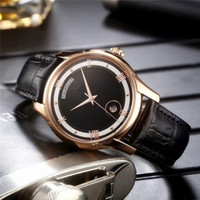 Wholesale Mens Watch Brands List - 2017 New Listing Business Luxury Mens Watch Imported Mechanical Automatic Movement Genuine Leather Band Brand Watch