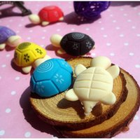 Wholesale Korean Cartoon Fruits - Wholesale- 2pcs Cute Cartoon Turtle Eraser Animal Eraser Novelty Stationery Lovely Kid`s Gifts  Rubber Eraser korean papelaria