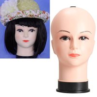 Wholesale Cosmetology Real Hair Heads - Real Female Mannequin Head Model Wig Hat Jewelry Display Cosmetology Manikin Hair Accessories & Tools Wig Stand