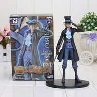 Wholesale One Piece 15th - 18cm Anime One Piece 15th anniversary Sabo PVC Action Figure Collectible Model Toy One Piece Figure