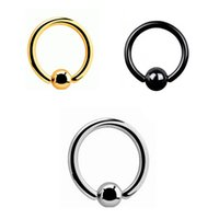 Wholesale Body Penis - 3 pcs  lot Stainless steel Captive Bead Rings BCR Lip Nose Eyebrow Nipple Penis Piercings Septum Ring Body Piercing Jewelry