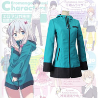 Wholesale Sagiri Izumi cosplay costumes blue hoodie Japanese anime Eromanga Sensei clothing Masquerade Mardi Gras Carnival costumes supply from stock