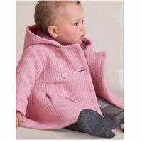 Wholesale Overcoat Poncho Jacket - 2017 Winter Baby Girls Coats Infant Jackets Trench Jacket Children Overcoat Bebe Poncho Girl Hooded Outerwear
