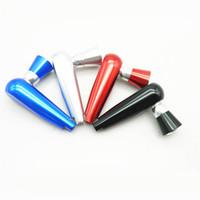 pipe whistle venda por atacado-95mm Comprimento Tubos De Fumo Apito Forma Tubulação Tubos de Tabaco De Metal De Alumínio Fumar Acessórios Frete Grátis