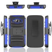 Wholesale S4 Active Wallet - Hybrid Robot Holster Combo Case with Stand Shockproof Customized Case Cover For Samsung S4 S5 S6 S7 Active S6 S6 S7 Edge Plus S5mini