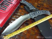 Wholesale micarta handle resale online - US Army Rangers dogleg knife military cr17mov blade HRC MICARTA handle