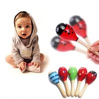 Wholesale NEW Hot Sale Baby Wooden Toy Rattle Baby cute Rattle toys Orff musical instruments Educational Toys