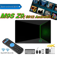 Compra Rete Hdmi-M9S Z9 android 7.1 TV BOX 2GB 16 GB Amlogic S912 Octa supporto di base Gigabit Lan 1080P Dual band wifi Rete KD17.1 Streaming TV Box