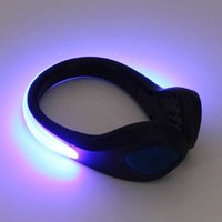 Wholesale night walk led light resale online - 30PCS LED Night Light Bulb Safety LED Shoe Clip Lights Shoe Clip Lights for Running Cycling Walking Jogging Horse Riding