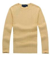 suéter polo xl al por mayor-Envío gratis 2018 nueva alta calidad milla wile polo marca hombres suéter de punto jersey de algodón jersey jersey suéter pequeño caballo