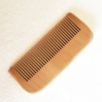 Wholesale new beard styles - New peach wood pocket beard hair comb wholesale fashion fine tooth hairbrush grooming care styling tool free shipping hot sale