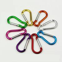 ingrosso b blocco-Alluminio B D-ring Snap gancio a molla moschettone blocco clip portachiavi arrampicata zaino 4 # 5 # colore della miscela di alta qualità