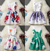 Wholesale Striped Sundress - 11 Styles big girls sundress butterfly flower ball printed girl's dress size 130 140 150 160 children clothing kids boutiques skirts