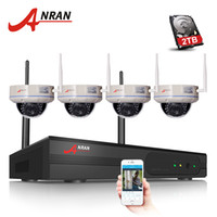 Wholesale 4pcs wireless ip camera for sale - 4CH WIFI NVR Security System P CCTV NVR HDMI Megapixels Dome IR IP Camera Wireless Surveillance Kit TB HDD Optional